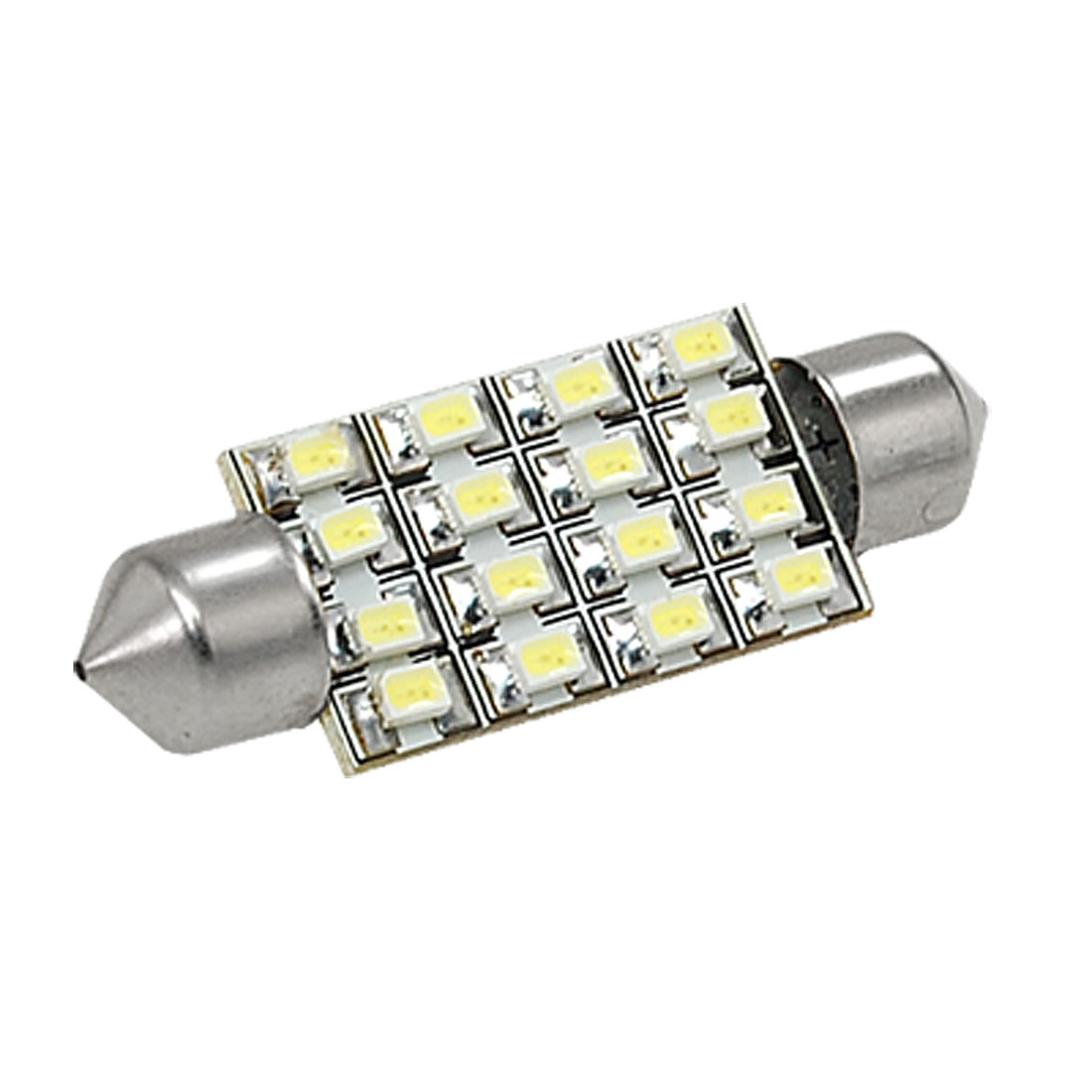 Car Interior White 38mm 16 SMD LED Festoon Dome Map Light Lamp Bulb DC 12V internal
