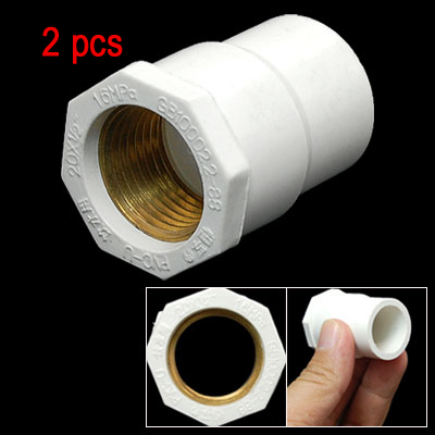 2 Watertight PVC Pipe Hose Adapter Screw Socket 1/2""