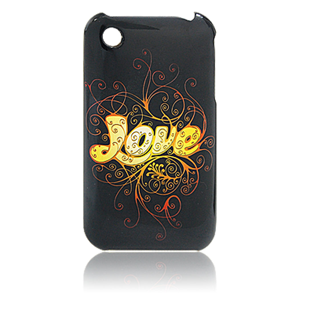Love Character Print Hard Plastic Back Case Cover for iPhone 3G