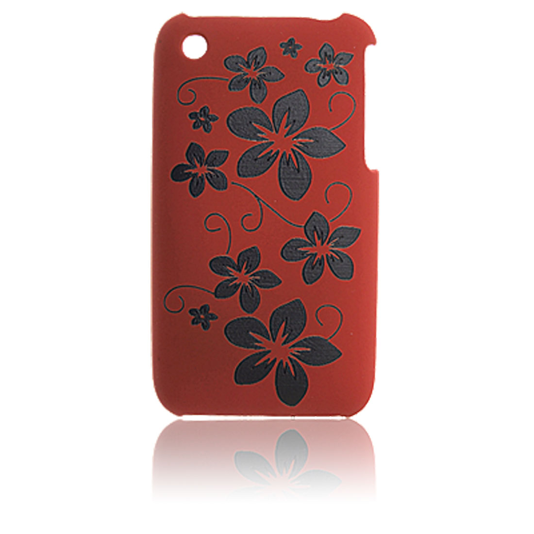 Screen Guard Flower Pattern Plastic Back Case for iPhone 3G