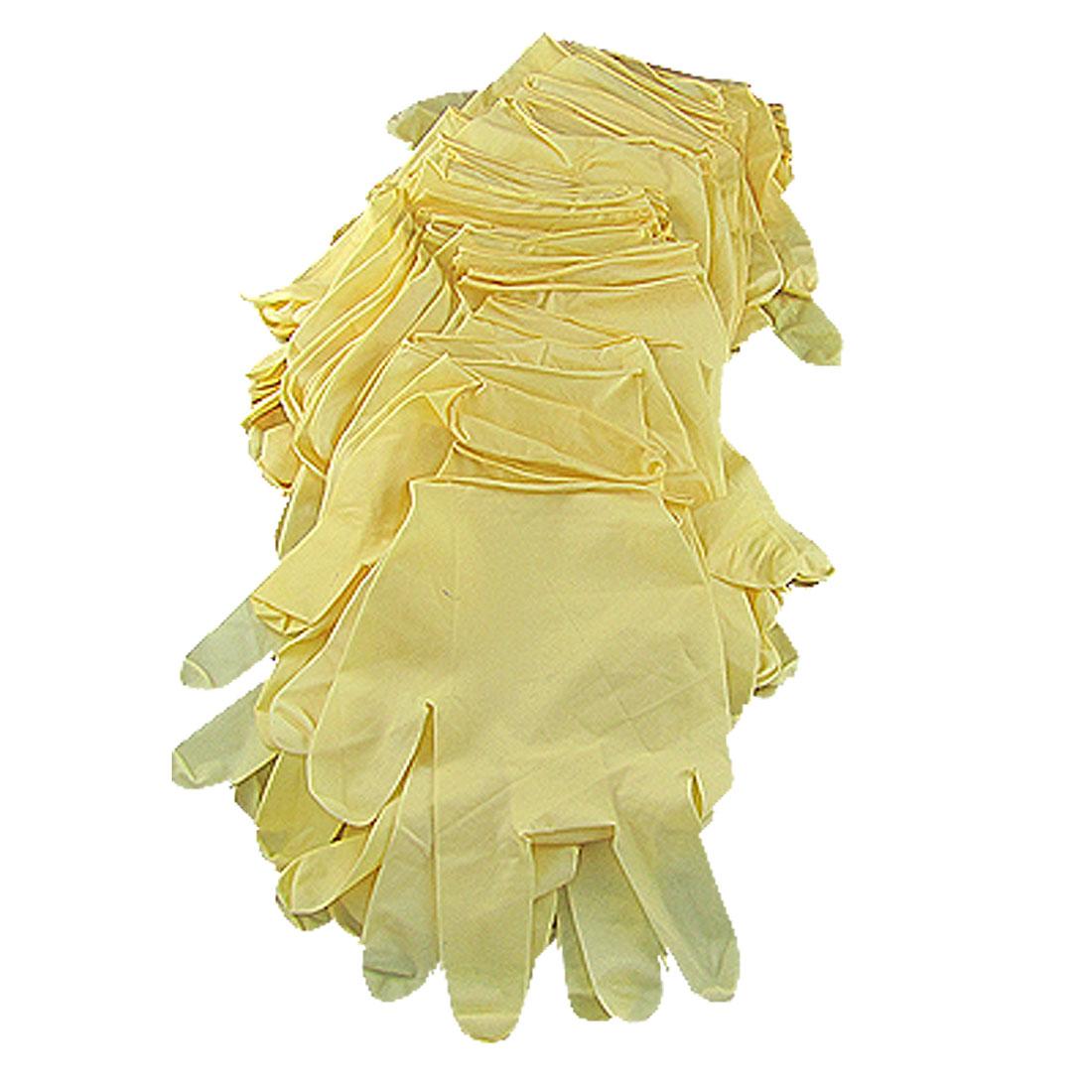 60 Pieces Smooth Disposable Latex Examination Exam Gloves