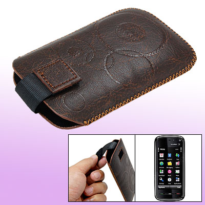 Brown Sleeve Case Pouch Vertical Holder for Nokia 5530