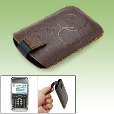 Protective Faux Leather Sleeve Case Pouch Brown for Nokia E71
