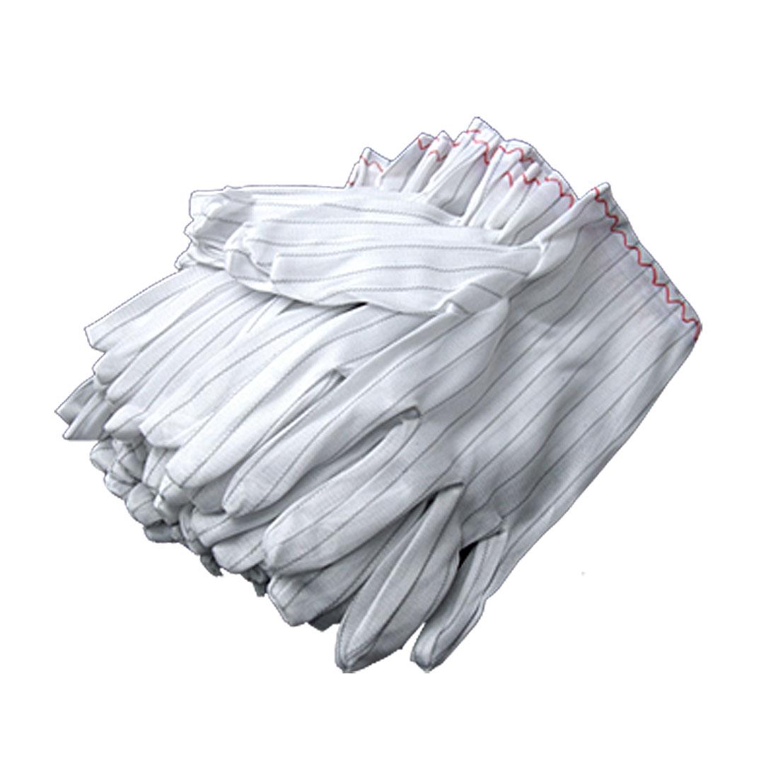 20 PCS Stripe Electric Working Anti Static Gloves White