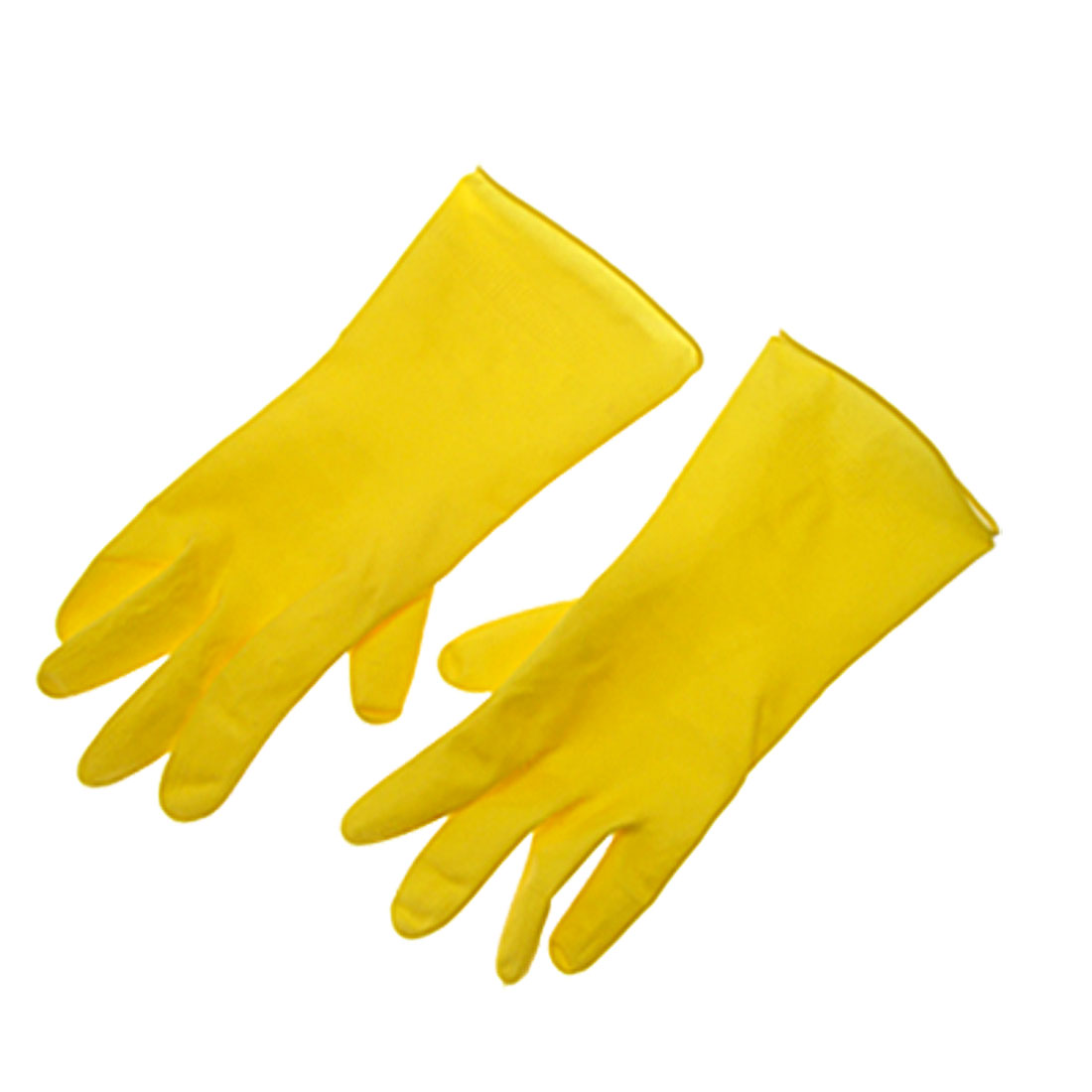 Nonslip Household Latex Rubber Yellow Long Gloves Large