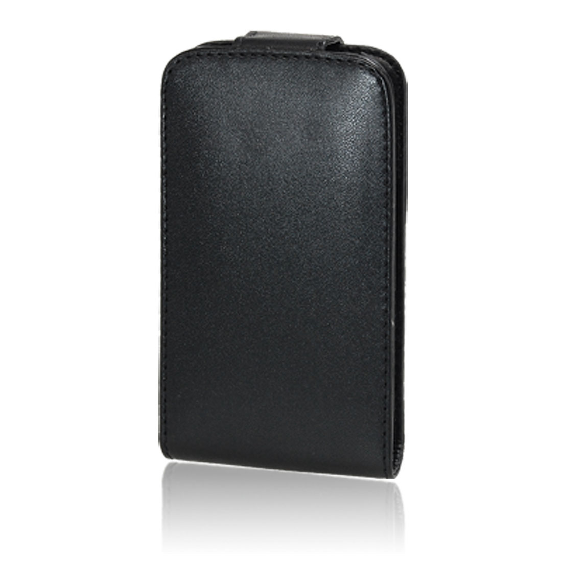Vertical Flap Magnetic Closure Case Black for Cell Phone