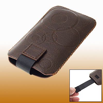 Brown Faux Leather Sleeve Case for HTC Touch Diamond 1st Gen
