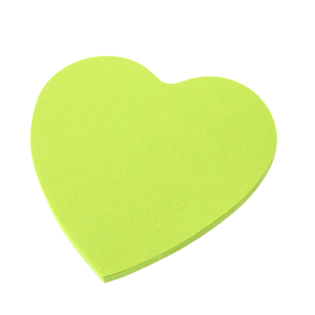 Heart Design Green Self Stick Paper Sticky Memo Notes Pad 2 Pack