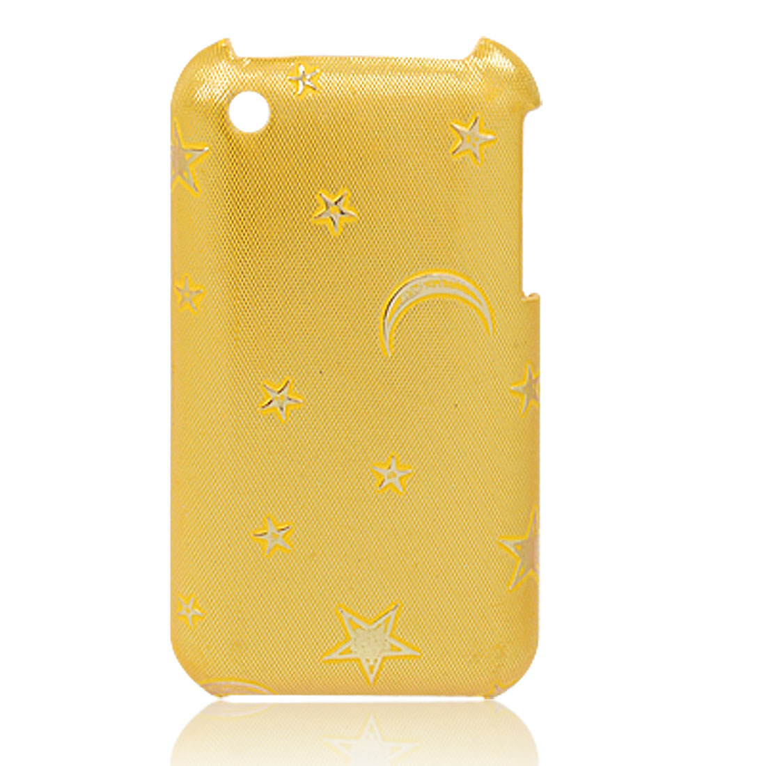 Yellow Star Print Plastic Shell Back Case Cover for Apple iPhone 3G