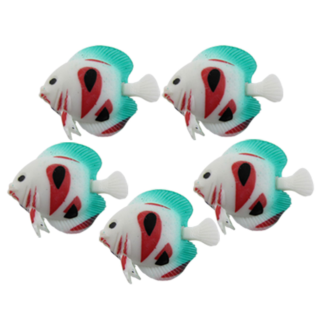 5 PCS Aquarium Tank Plastic Tropical Fish Ornamental Decoration