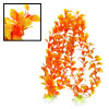 Orange Plastic Aquarium Grass Plants Tank Ornament Decor 2 PCS