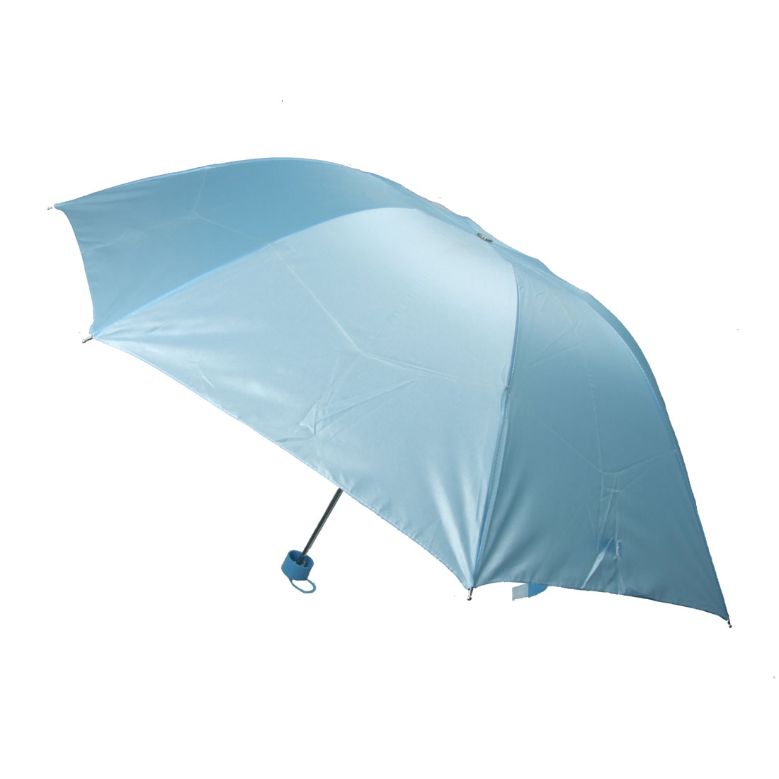 Lady's Flower Pattern Blue Folding Canopy Sun Rain Umbrella