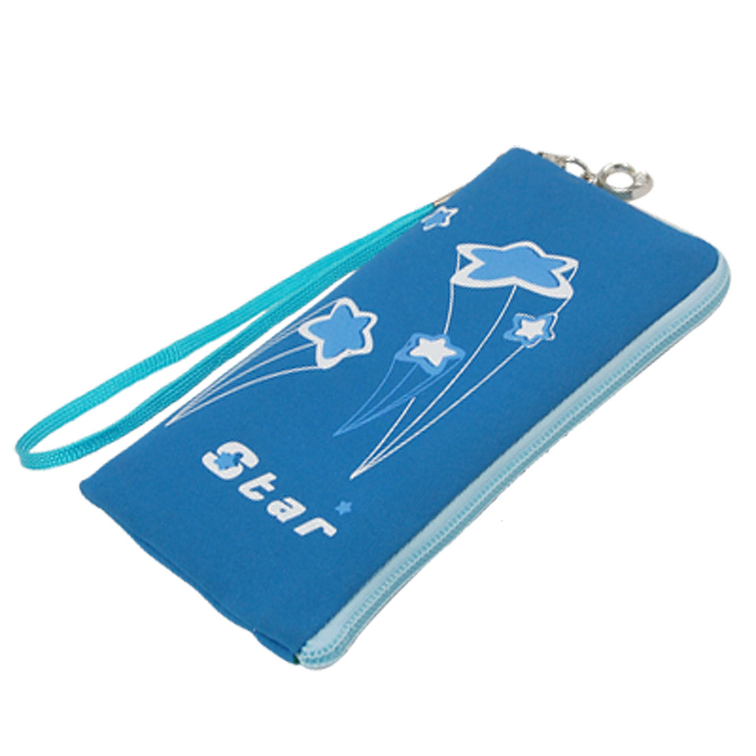 Flower Cell Phone Carry Bag Pouch Blue for Smart Phones