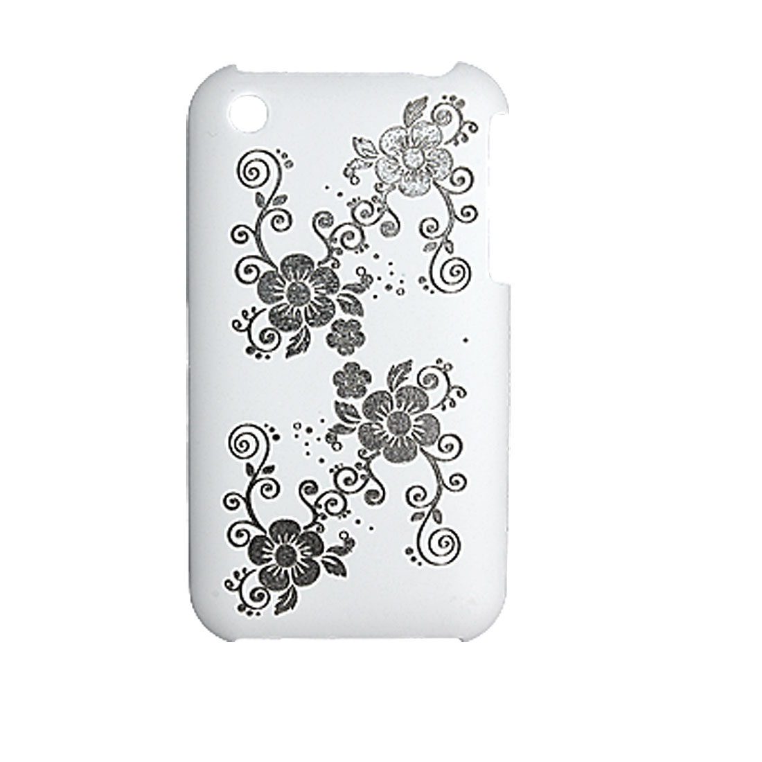 Flower White Plastic Case Screen Protector for Apple iPhone 3G