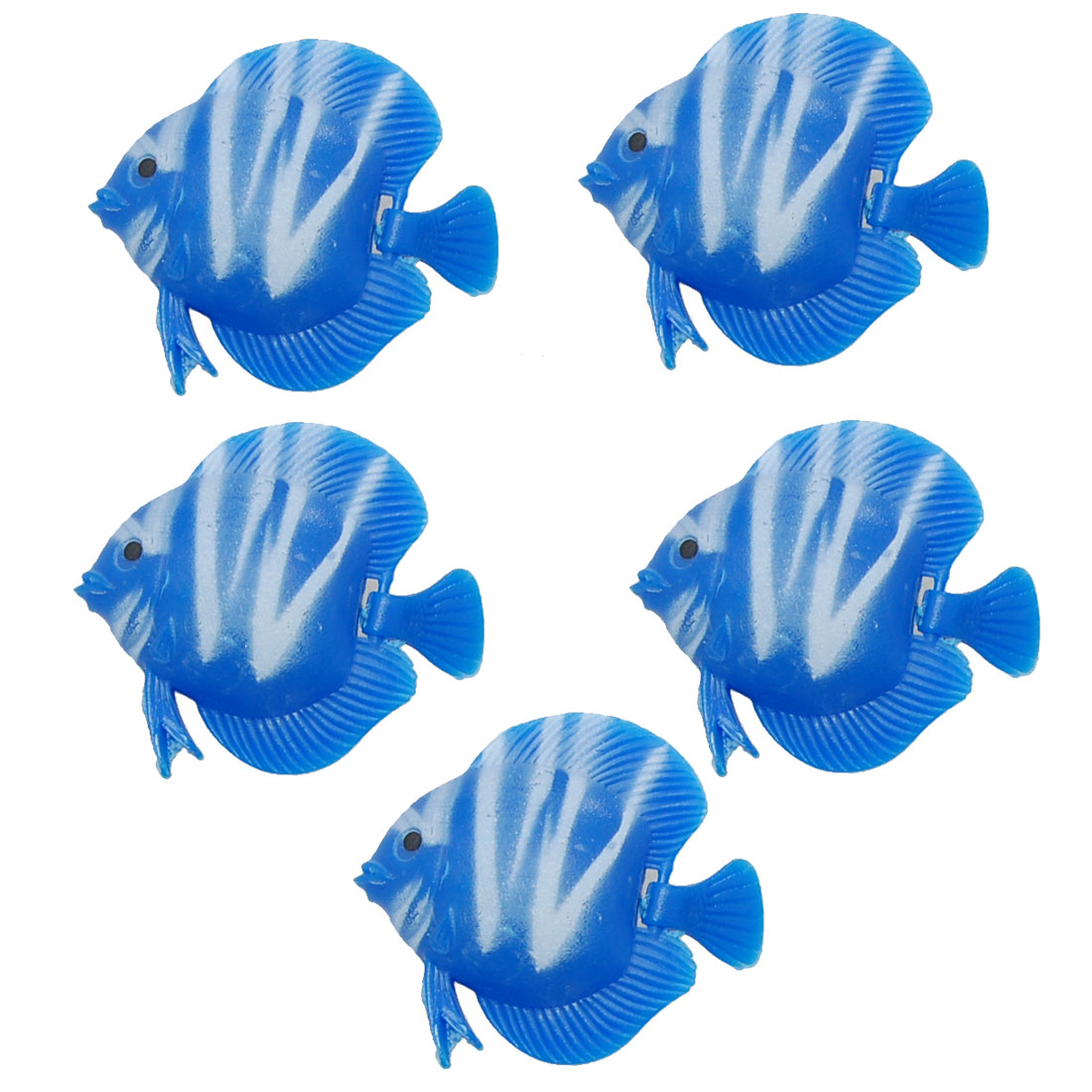 5 PCS Blue Vividly Plastic Floating Fish Fishing Tank Aquarium Decor