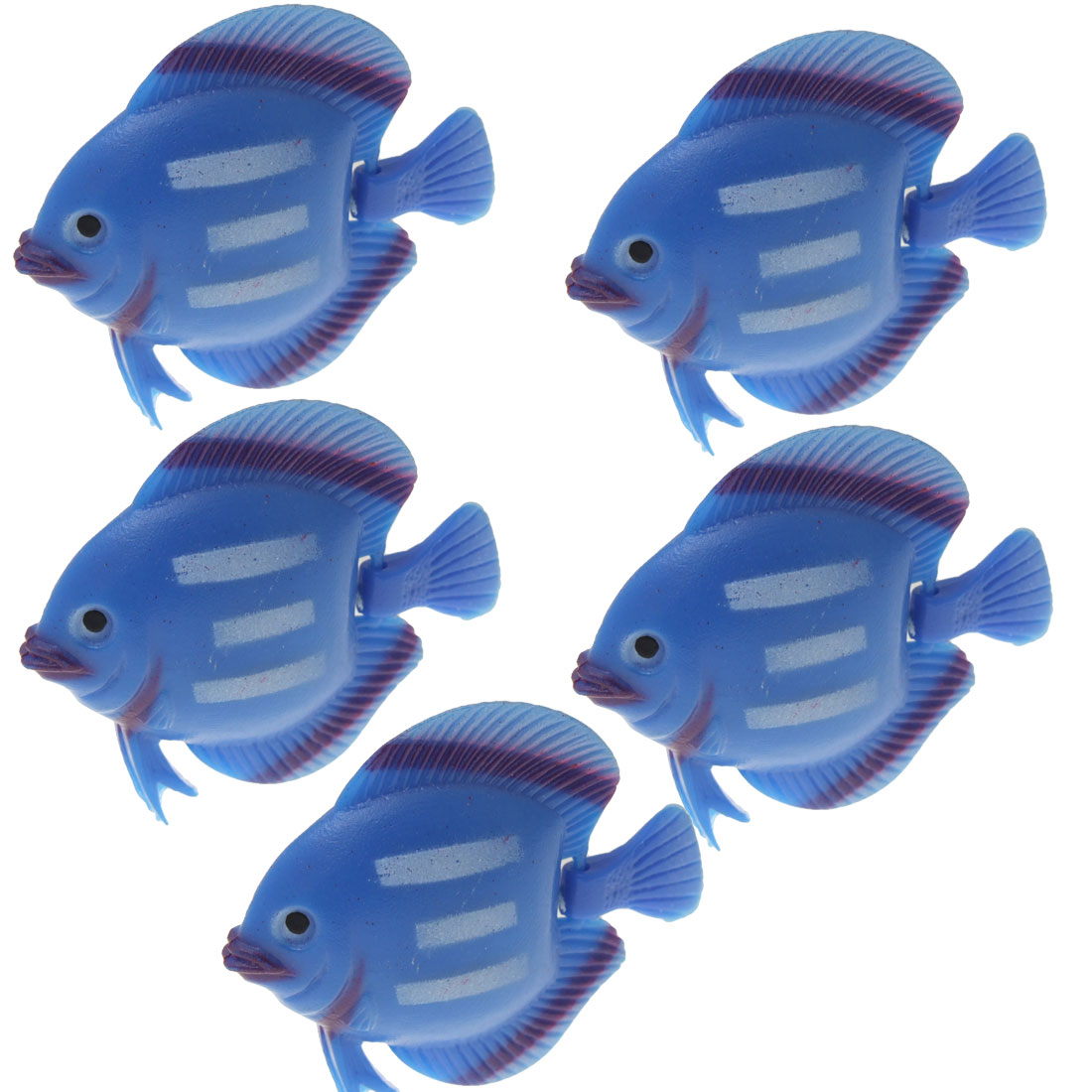 Blue Fish Ornament Tank Aquarium Plastic Decoration