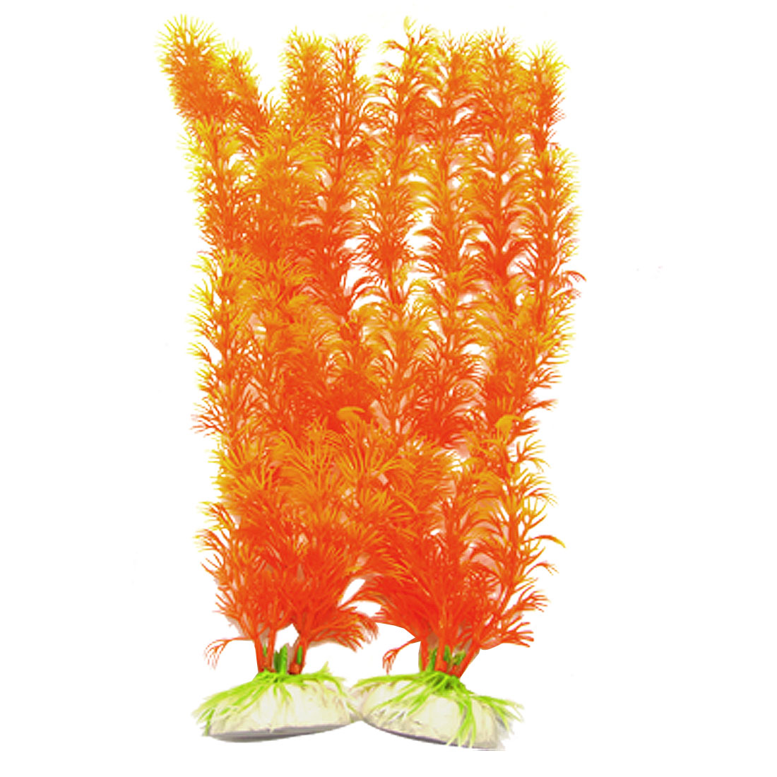 Orange Vividly Float Plants Decor Fish Tank Aquarium Ornament 2 Pcs