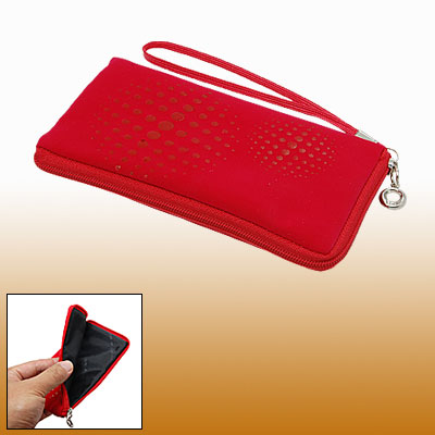 Cell Phone Red Purse Bag Dot Soft Pouch for Cell Phone