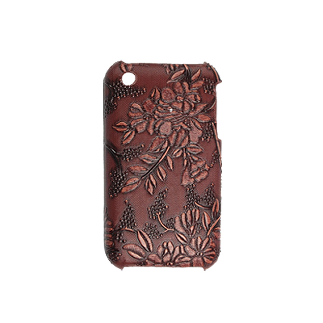 Screen Guard + Plastic Flower Back Case Cover for iPhone 3G