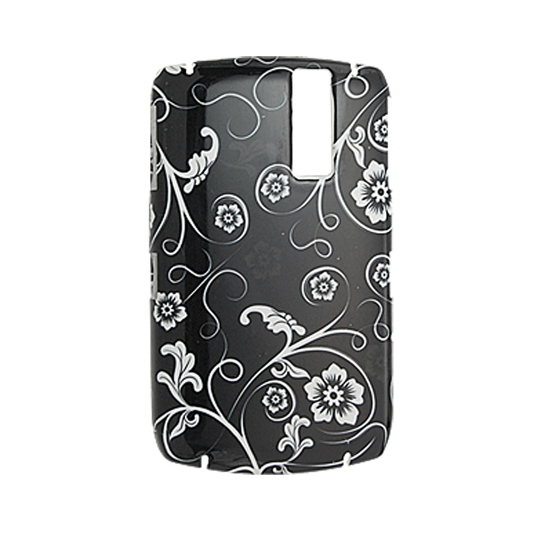Black Hard Case Flower Plastic Cover for Blackberry 8300