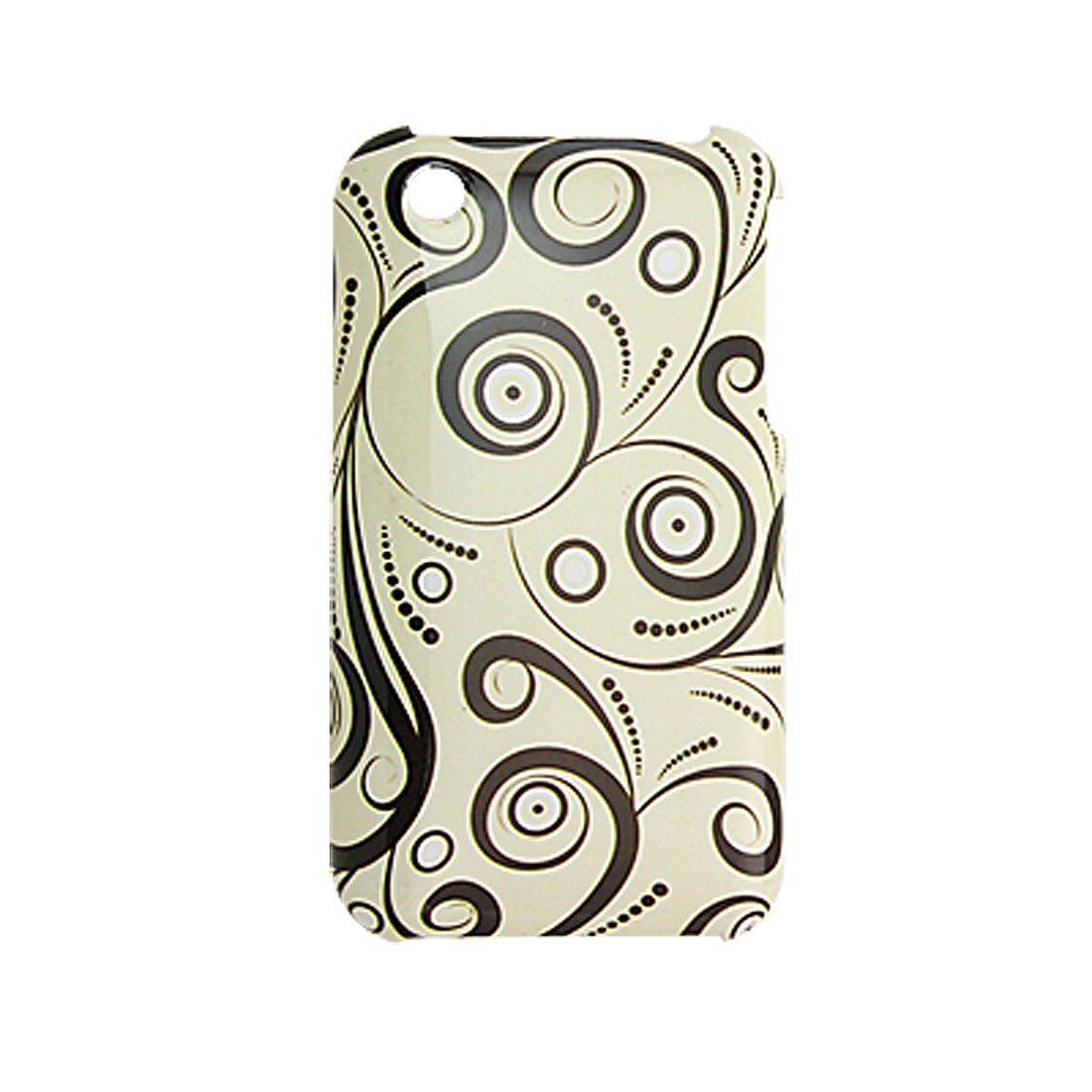 Flower Plastic Back Case Shell Screen Guard for iPhone 3G