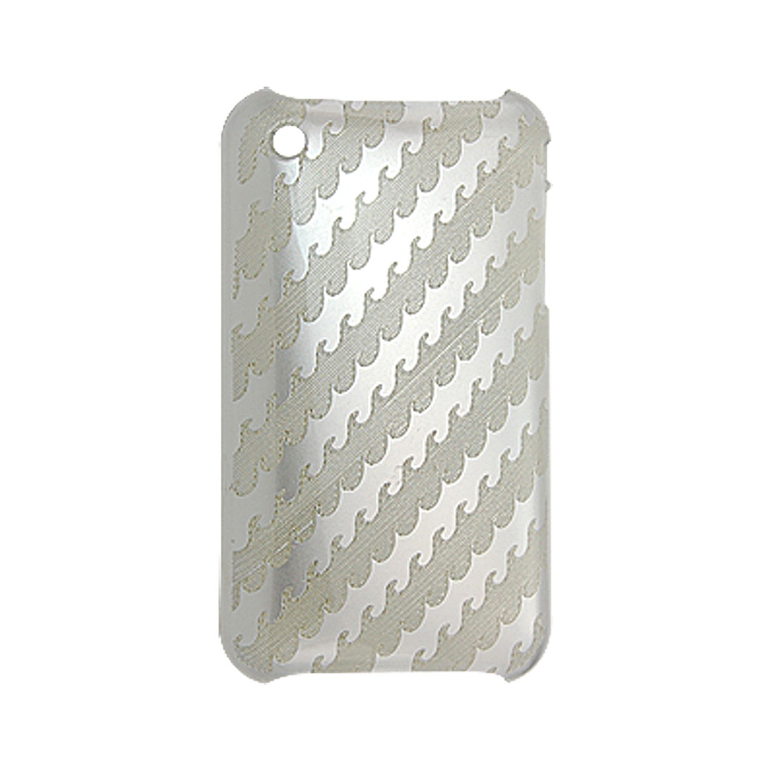 Screen Guard Silver Tone Back Case Hard Plastic Cover for iPhone 3G