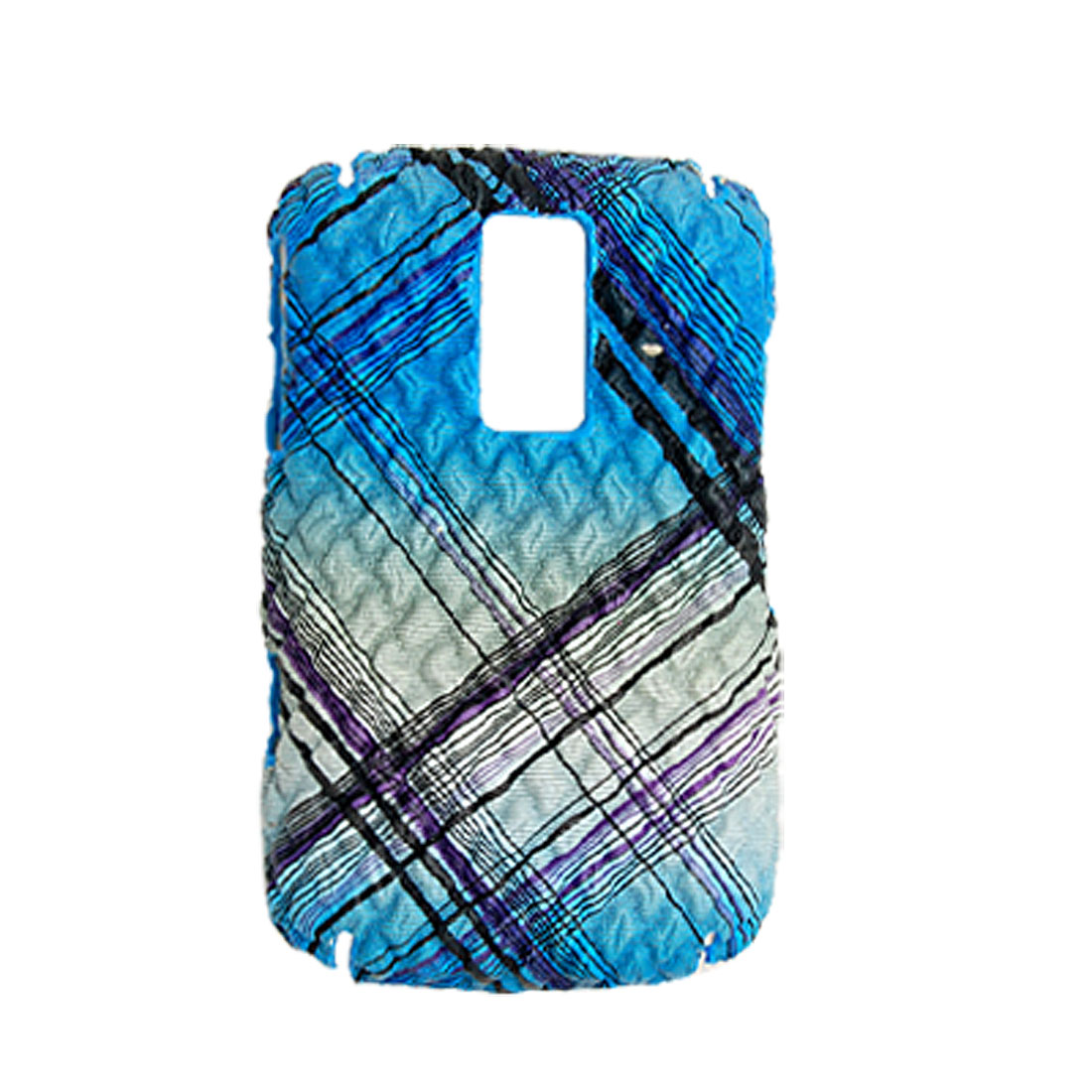 Plastic Non-slip Checker Back Case Cover for Blackberry 9000