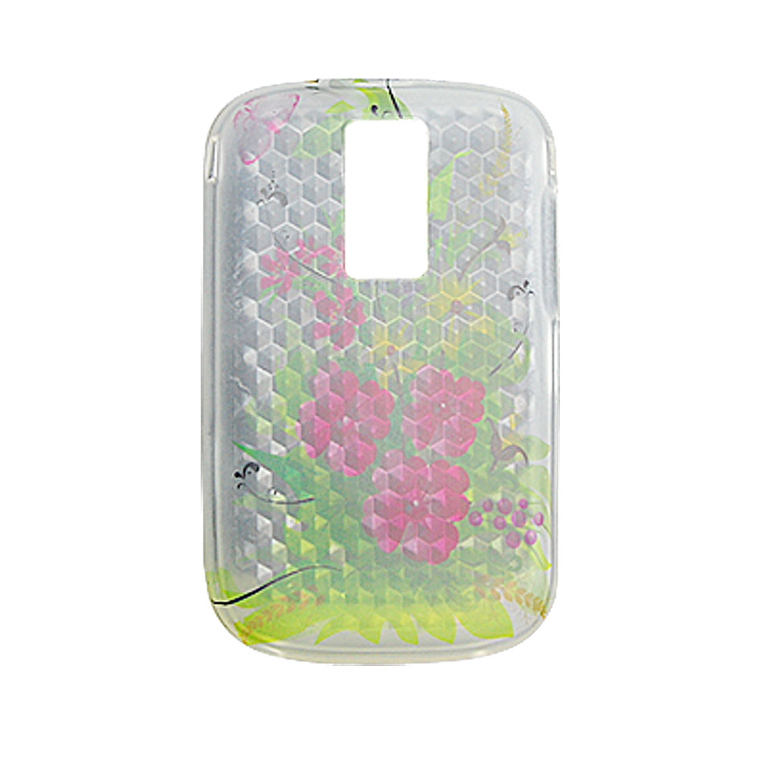 Flower Flexible Case Plastic Cover for Blackberry 9000