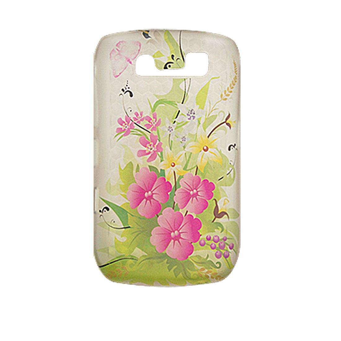 Flower Soft Case Plastic Cover for Blackberry 8900