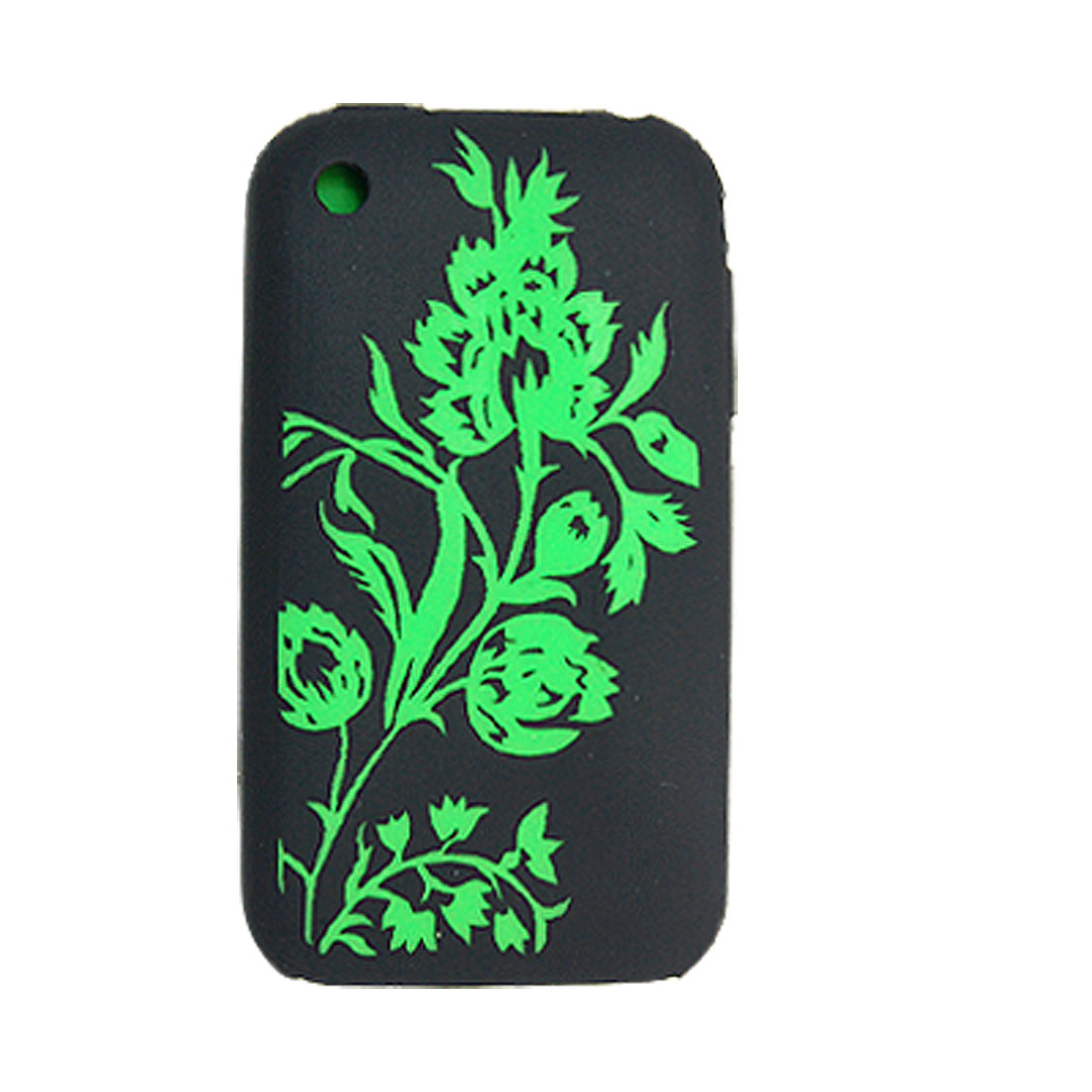 Cut Flower Case Silicone Cover Screen Guard for iPhone 3G
