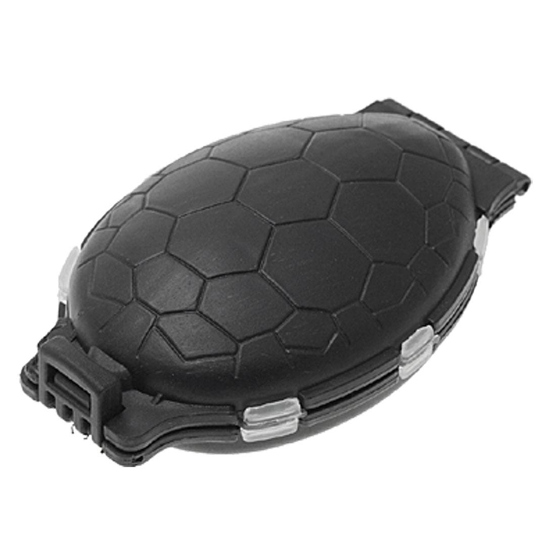 Tortoise Shaped Mutli-Compartment Plastic Fishing Tackle Case Box