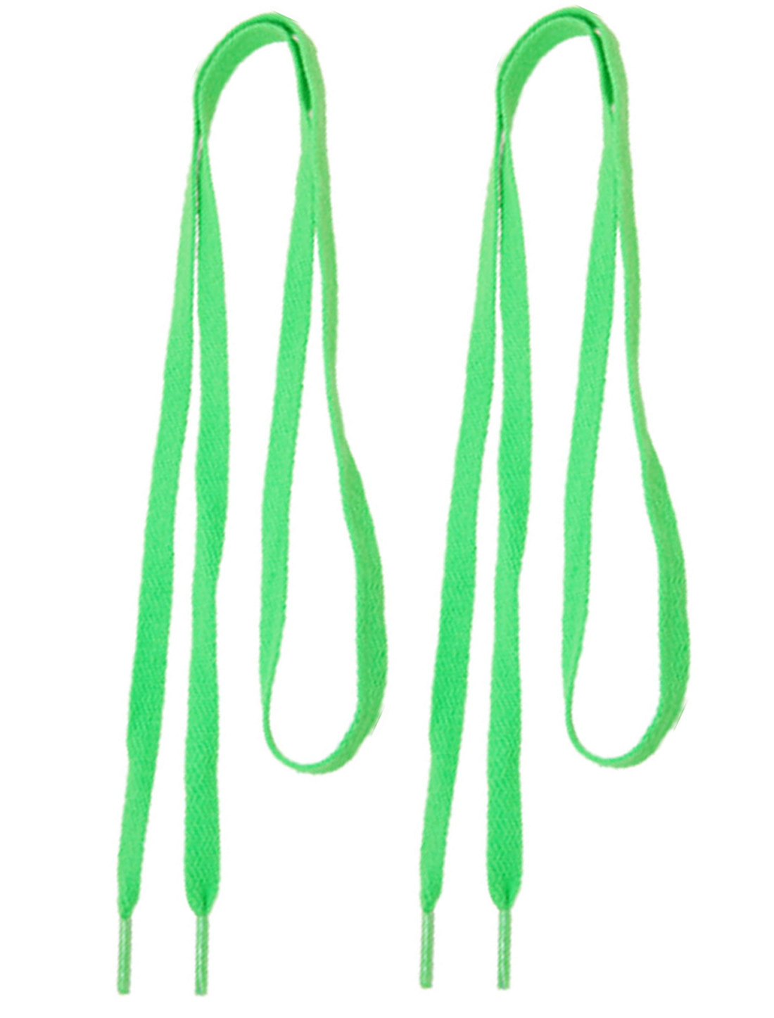 "43"" Length Superior Length Flat Green Laces Shoestrings 2 Pcs"