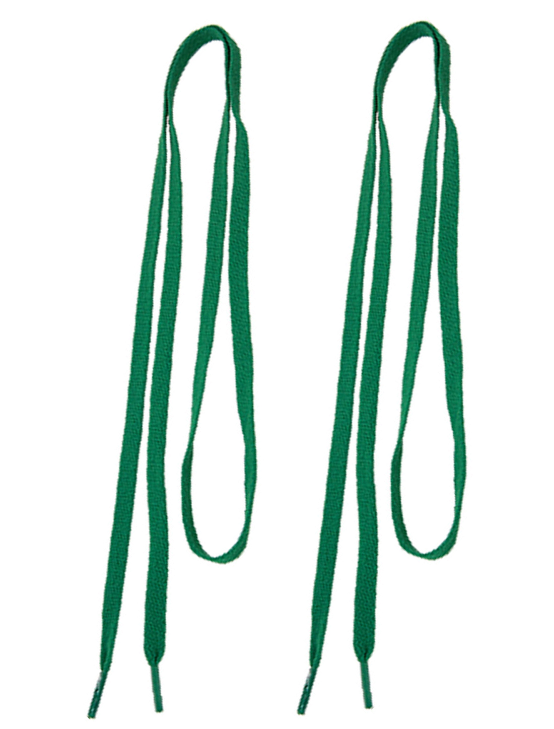 Bottle Green Flat Polyester Shoestring Bootlaces 3 Pair