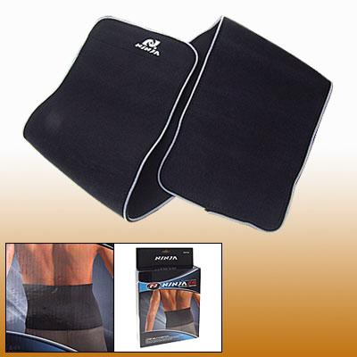 Black Neoprene Wrap Elastic Waist Support Belt Band