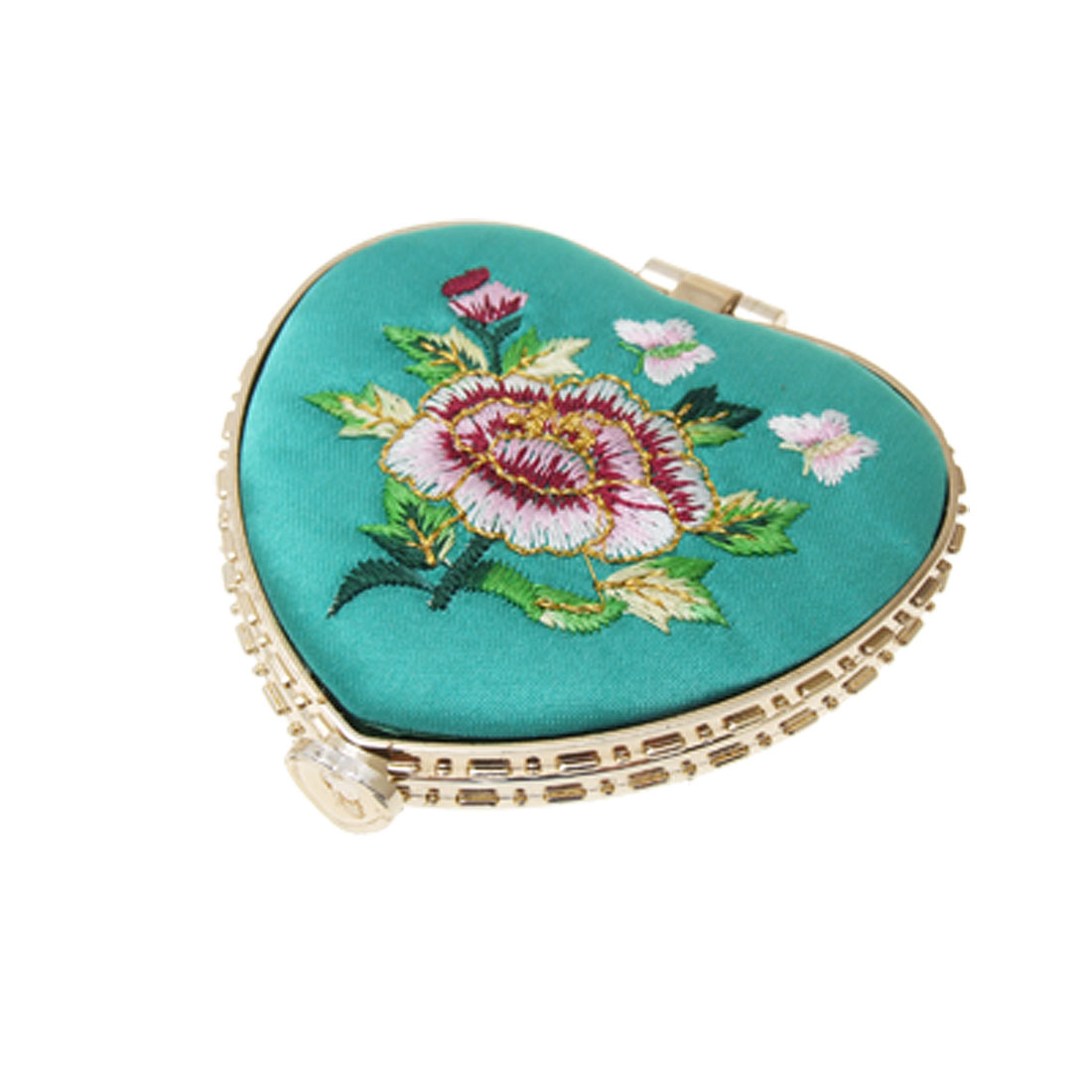 Persian Green Heart Shaped Folding Double Sides Mirror