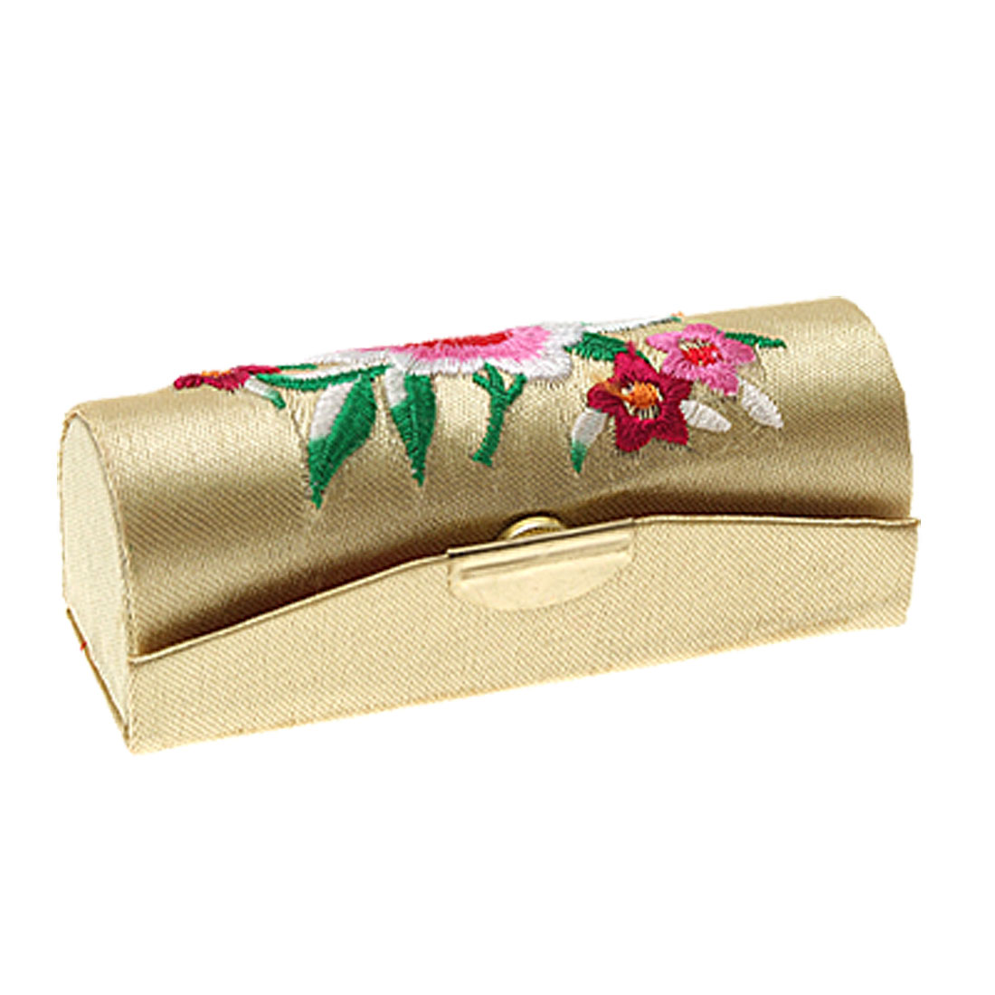Emperor Yellow Flowered Embroider Lipstick Box Case