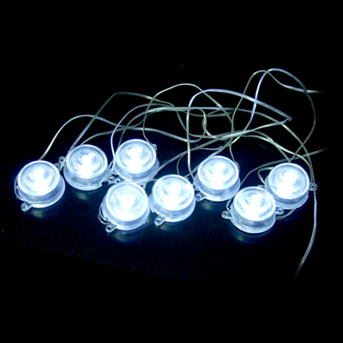 DC 12V Auto Car Water Resistant White LED Undercar Light Lamps 8 Pcs