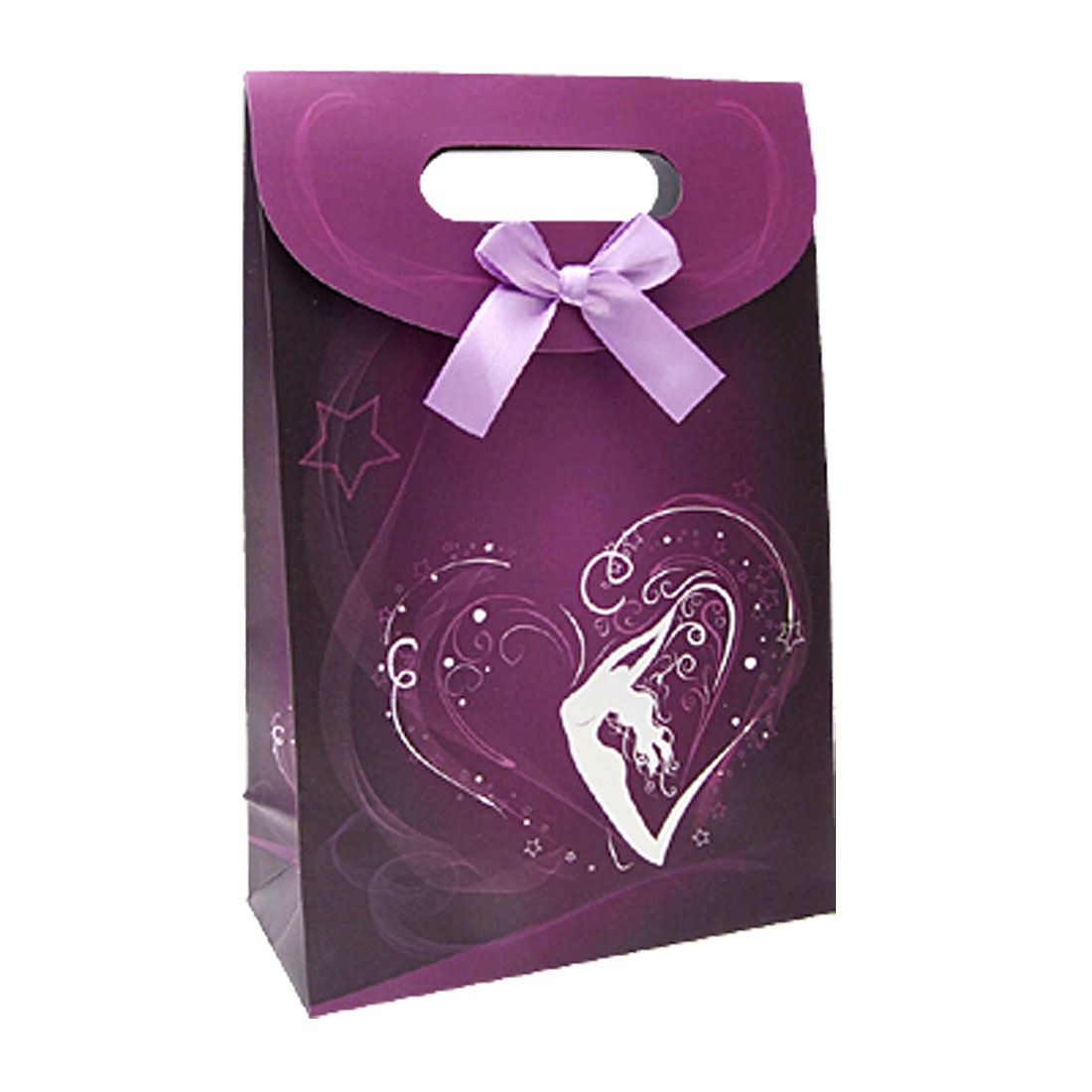 ...  Gift Bags  Purple Artistic Lady Dance Pattern Present Paper Bag