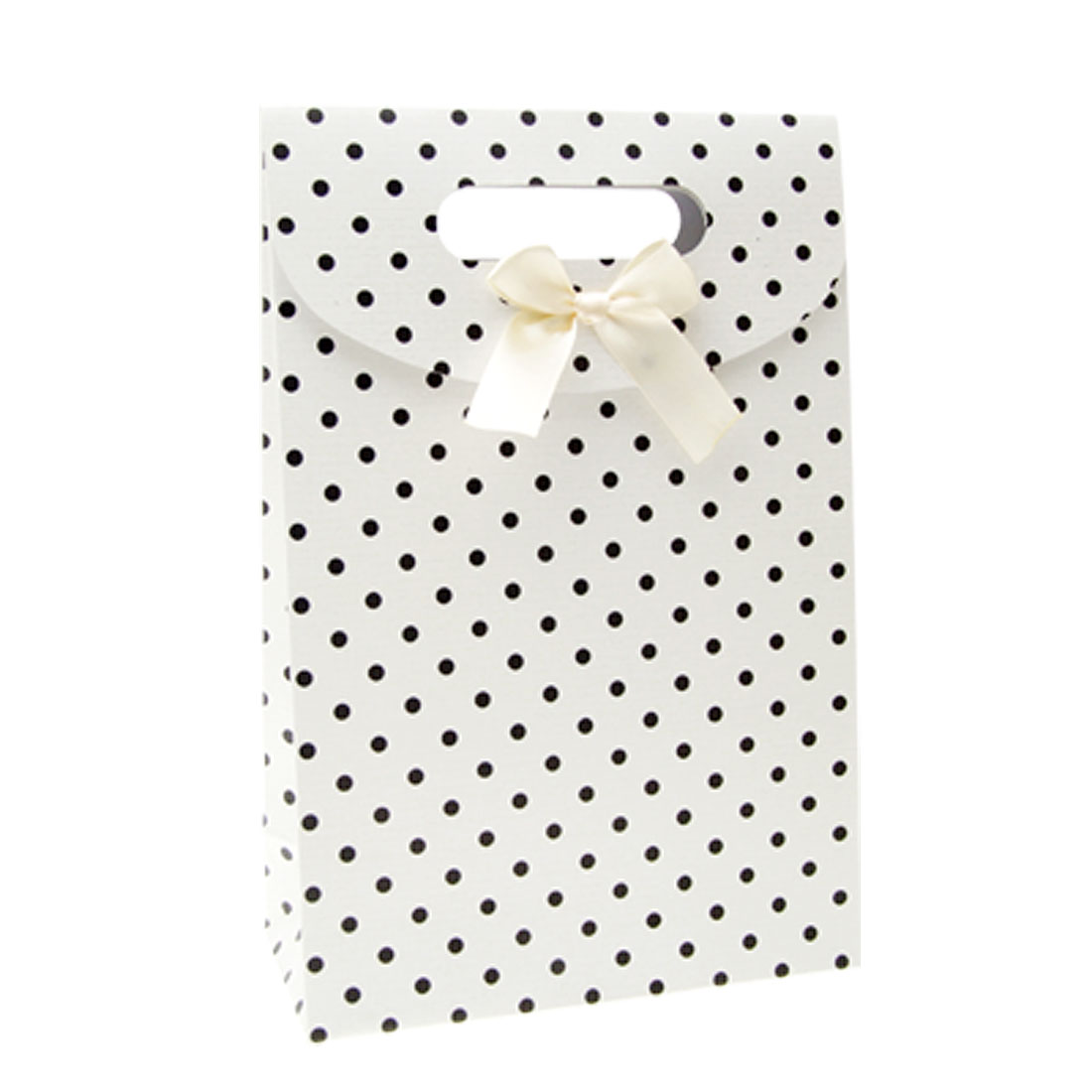 Black Dots White Paper Favor Gift Party Present Bag
