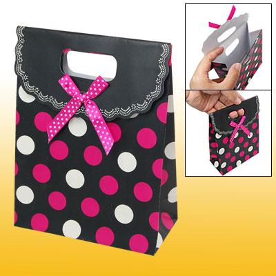 Small Cut Handle Dots Print Mini Gift Paper Bag