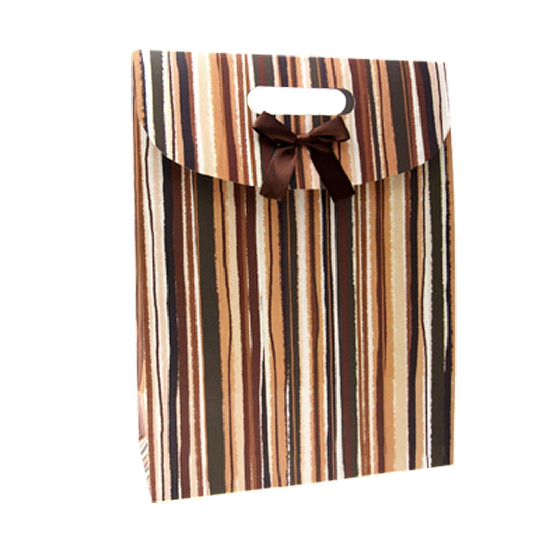 Vertical Stripes Watercolor Colorful Paper Gift Bag
