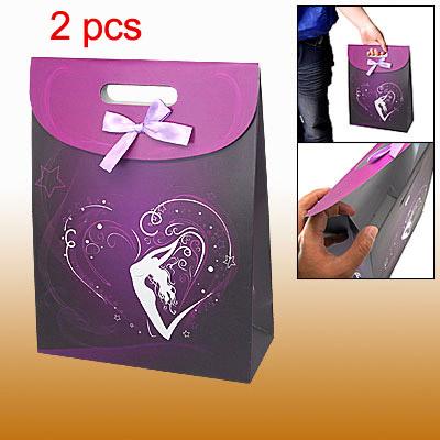 Lady Dance Beautiful Purple Handy Carrying Paper Bag 2pcs