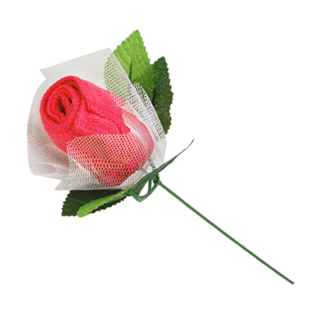 Mini Rose Pink Shape Quadrate Cotton Washcloth Ladys