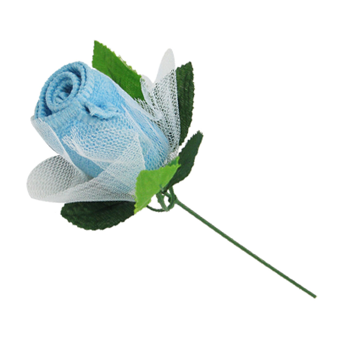 Rose Shape Mini Blue Soft Cotton Towel Sweet Gift for Lady