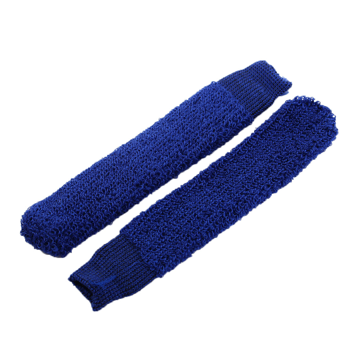 Badminton Cotton Blends Racket Handle Towel Wrap Over Grip Cover Blue 2pcs
