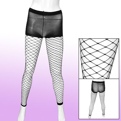 Ladies Stretch Fishnet Pantyhose Black Footless Tights