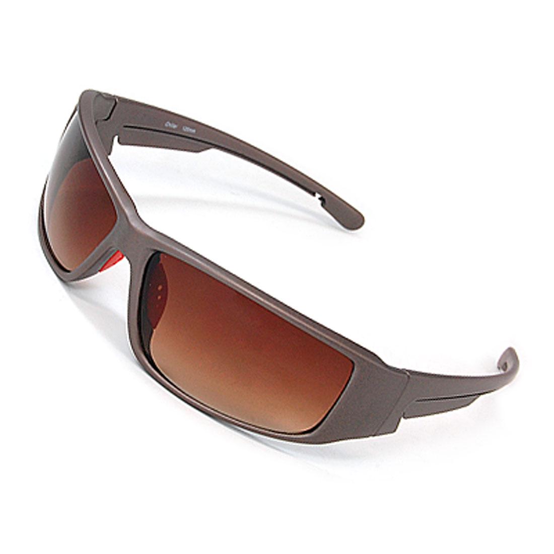 Big Amber Lens Plastic Full-rim Frame Unisex Sunglasses