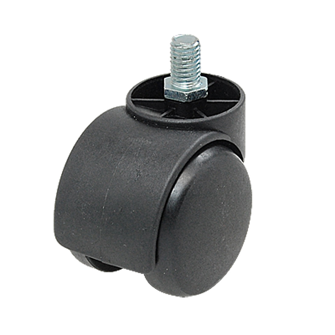 M10 Threaded Stem Connector Twin-wheel Black Chair Trolley Caster