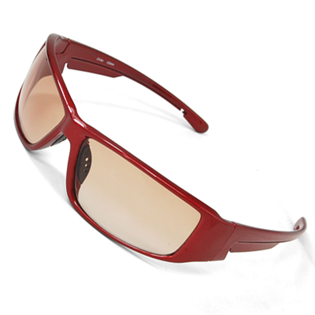 Unisex Plastic Arm Big Lens Full-rim Frame Sports Sunglasses