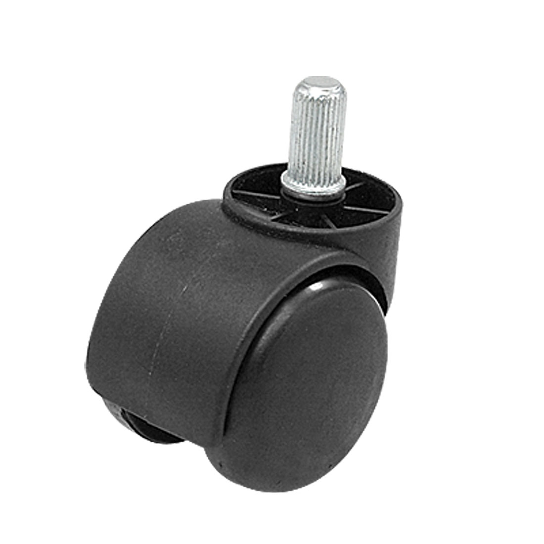 Black Double Wheel Straight Threaded Stem Connector Caster